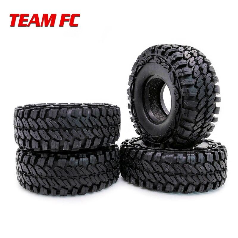 Wheel Tires For 1:10 Axial Scx10 Rc4wd D90 D110 Tf2 114mm Trx-4 S104 Good Heat Preservation 100% True 4pcs 1.9 Rc Rock Crawler Rubber Rocks Tyres Remote Control Toys