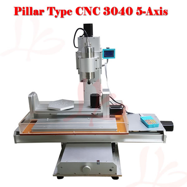 CNC router 3040 5 axis 2.2KW wood cutting machine 3040 cnc drilling machine cnc 5axis a aixs rotary axis t chuck type for cnc router cnc milling machine best quality
