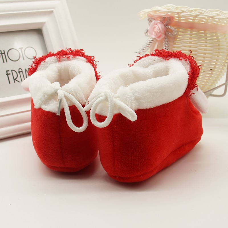1 Pair Cartoon Winter Baby Shoes Alpaca Soft Bottom Non-slip Warm Boots Toddler Newborn Boys Girls First Walkers 6-12 Months 3