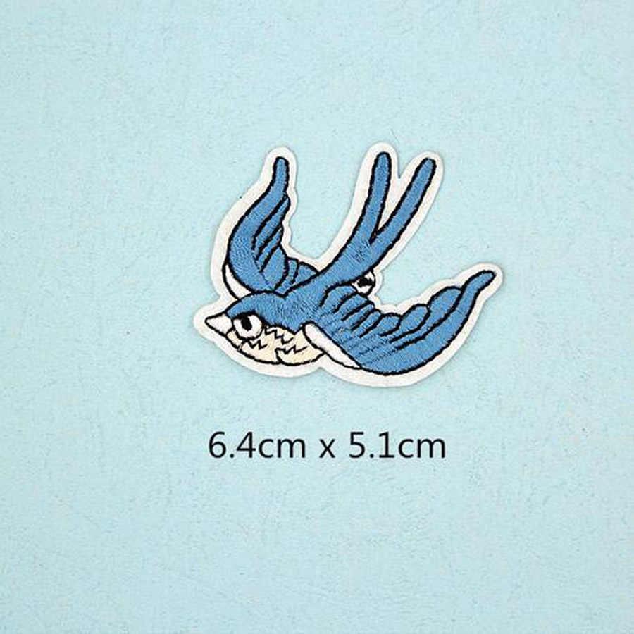 Chim Ong Stag Buck Miếng Dán Nắp Giày Sắt Trên Thêu Appliques TỰ LÀM Trang Phục Phụ Kiện Miếng Dán Cường Lực Cho Quần Áo Vải Phù Hiệu BU23