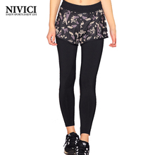 Women Yoga Pant Sports Trousers Running small floral print Breathable High Waist Fitness Two Colors Dancing Leggings Outdoor