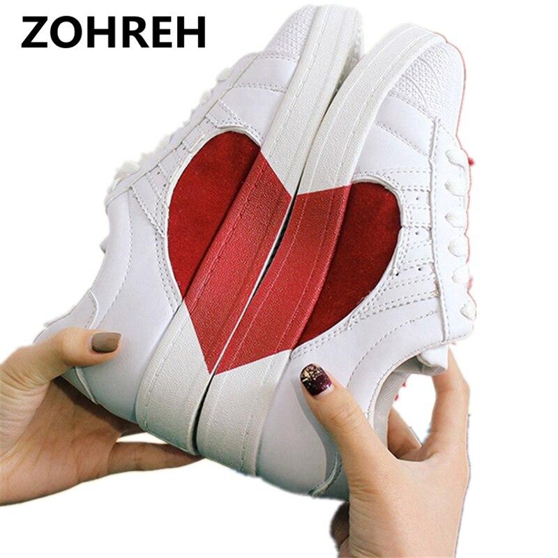 ZOHREH Women Shoes hot fashion pu leather women flats platform shoes deportivas mujer Creepers women sneakers white shoes