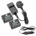 DSTE 2PCS DMW-BLC12 Battery + Travel and Car Charger For Panasonic DMC-GH2 DMC-GH2GK DMC-V-LUX4 DMC-G7 Leica Q Camera