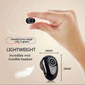 Image 3 - Invisível ultra pequeno esportes mini estéreo s650 bluetooth fone de ouvido sem fio 1earbud para esportes masculinos