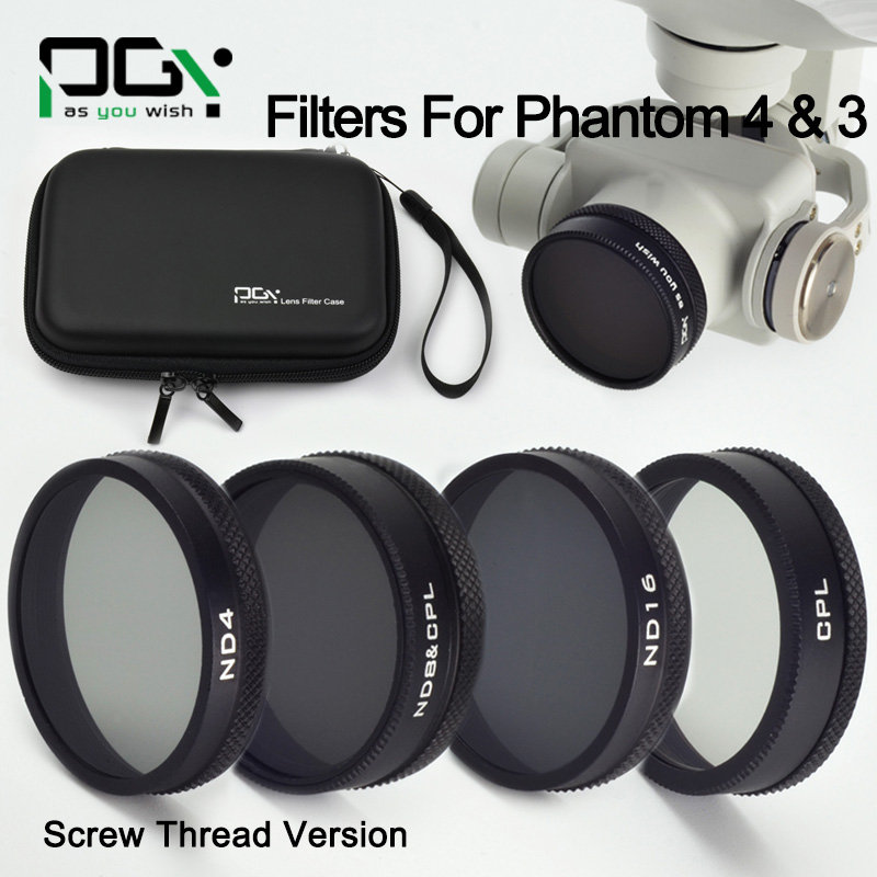 DJI phantom 4 3 lens Filter ND4 ND8&CPL ND16 CPL Filter Case bag Professional Advanced Camera Accessory Mirror Polarizer