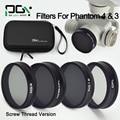 DJI phantom 4 3 lens Filter ND4 ND8&CPL ND16 CPL Filter Case bag Professional Advanced Camera Accessory Mirror Polarizer