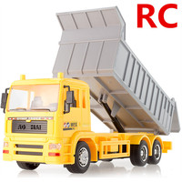 Remote Control Dumpers Wireless Control 7 Channel Engineering Dumpers Electric Vehicles Toys Luminous Model Free Shipping