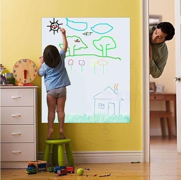 50x120cm Flexible Vinyl Whiteboard Kids Drawing Board Wall