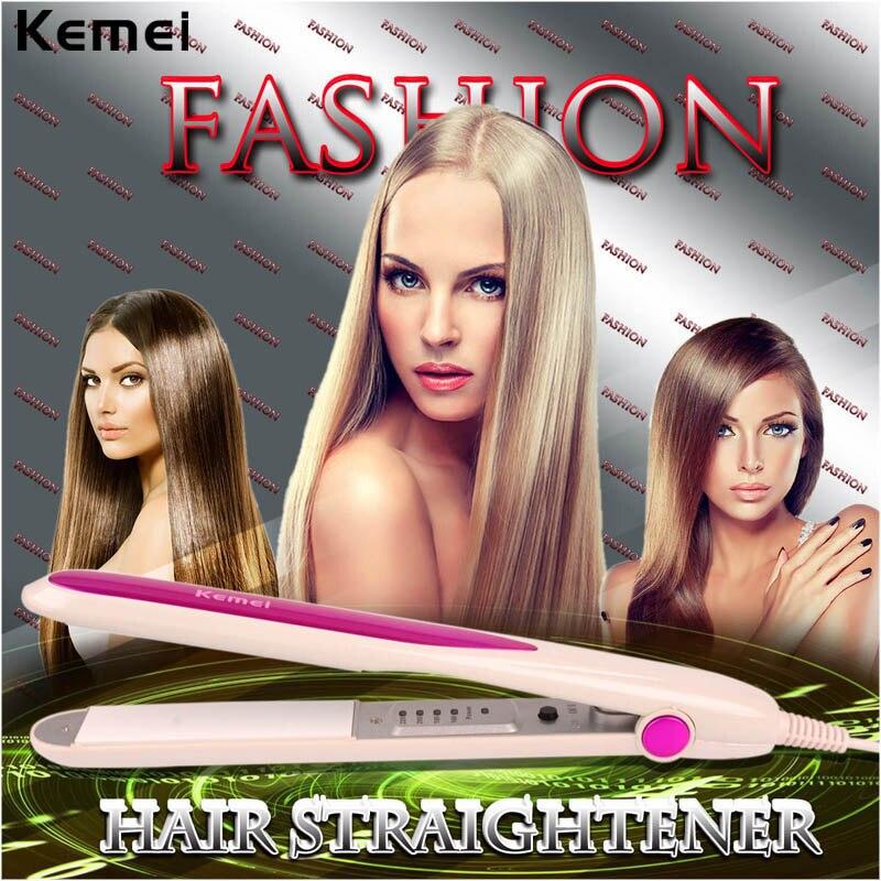 Professional Tourmaline Ceramic Hair Straightener Hair Straightening Irons PTC Heating Dry Wet Flat Iron Hair Styling Tools lady