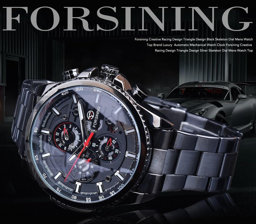 HTB1Ki8TbdfvK1RjSszhq6AcGFXaq Forsining Three Dial Calendar Stainless Steel Men Mechanical Automatic Wrist Watches Top Brand Luxury Military Sport Male Clock