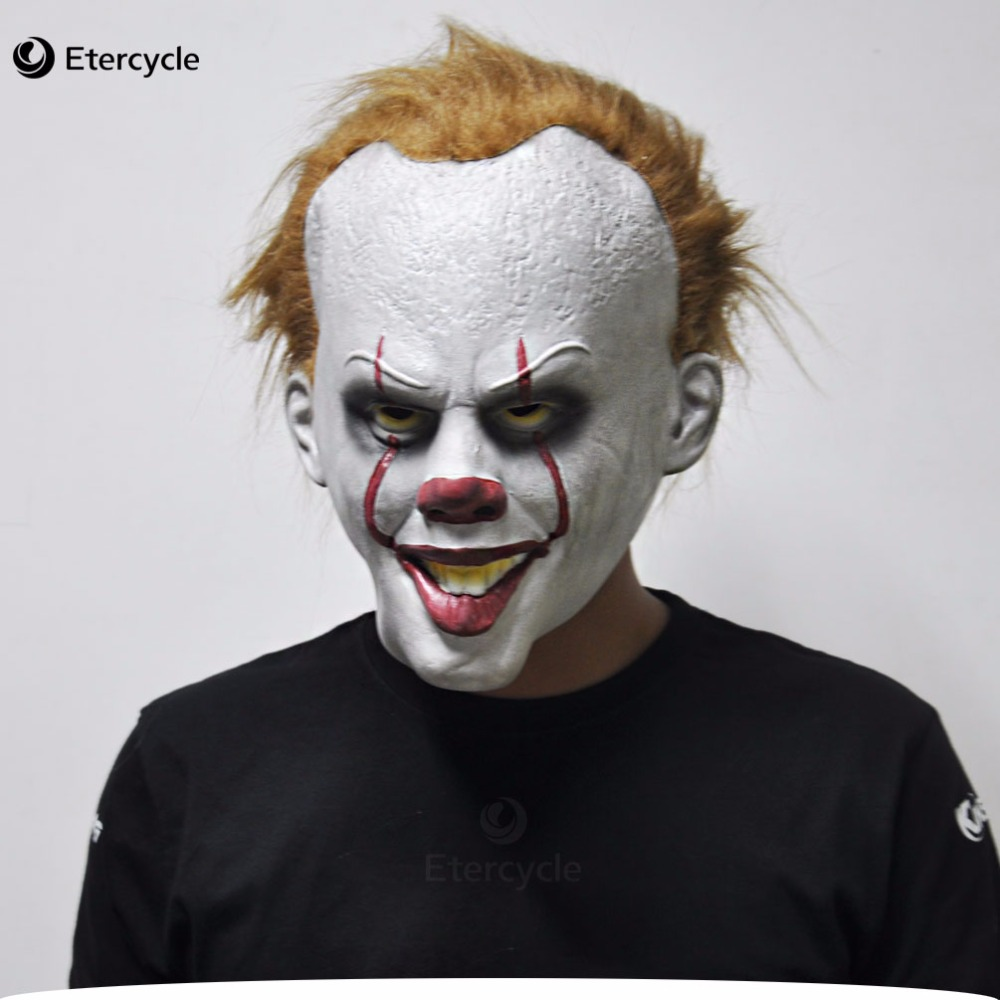 Halloween Clown Pennywise Masks Stephen King 39 s IT Costume Cosplay Movie Adult Party Masquerade Rubber Latex Masks in Party Masks from Home amp Garden