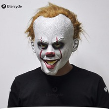 Halloween Clown Pennywise Masks Stephen Kings IT Costume Cosplay Movie Adult Party Masquerade Rubber Latex
