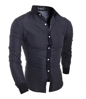New Fashion Brand <font><b>Men's</b></font> <font><b>Polka</b></font> <font><b>Dot</b></font> <font><b>Shirts</b></font> Casual Office <font><b>Shirt</b></font> Slim Fit <font><b>Men</b></font> <font><b>Shirt</b></font> Man Long Sleeved Dress Business Camisa Masculina image