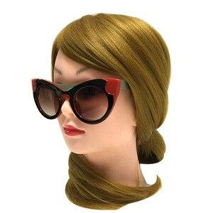 Image 2 - Lunettes de soleil yeux de chat femmes Vintage lunettes rétro marque concepteur de luxe lunettes de soleil femme dames filles