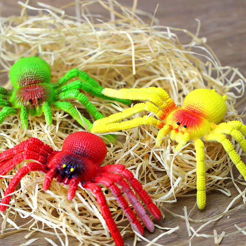 10*13.5cm Spider Simulation Jokes Toys Tricky Scary Toy Prank Gift Model Strange New Toy Prank For Children Halloween Trick Toys