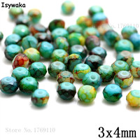 Isywaka 3X4mm 30,000pcs Rondelle Austria faceted Crystal Glass Beads Loose Spacer Round Beads Jewelry Making NO.55