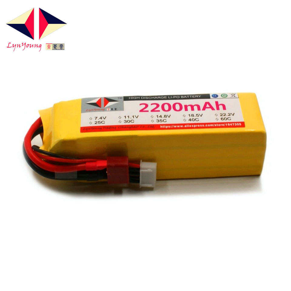 LYNYOUNG Lipo battery 2200mAh 14.8V 60C 4s for RC Airplane Helicopter Drone Car Boat Truck 6 Axis Quadcopter tcbworth 11 1v 3300mah 60c 120c 3s rc lipo battery for rc airplane helicopter quadrotor drone car boat truck li ion battery