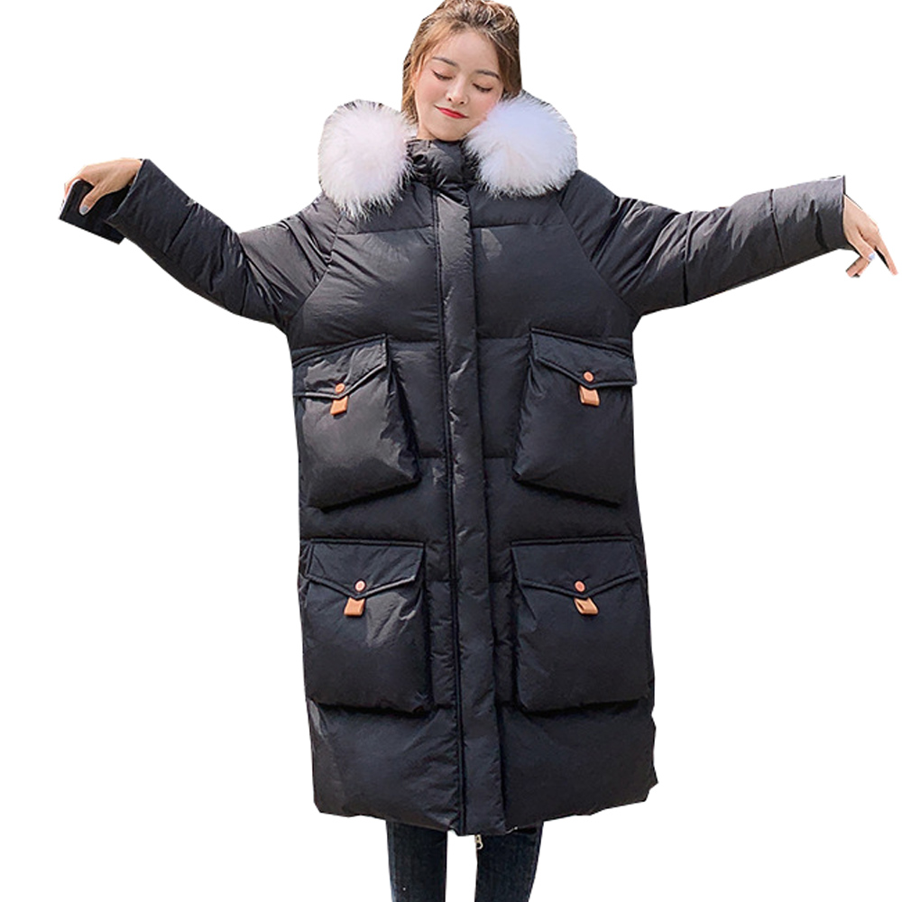 Hot sale Plus size chaqueta mujer hot Long style jacket new urban leisure jacket in winter down   parka   801