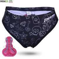WOSAWE Women's Cycling Underwear Triangle Shorts Bicycle Underpants mtb Mountain Bike 3D GEL Padded Short Pants