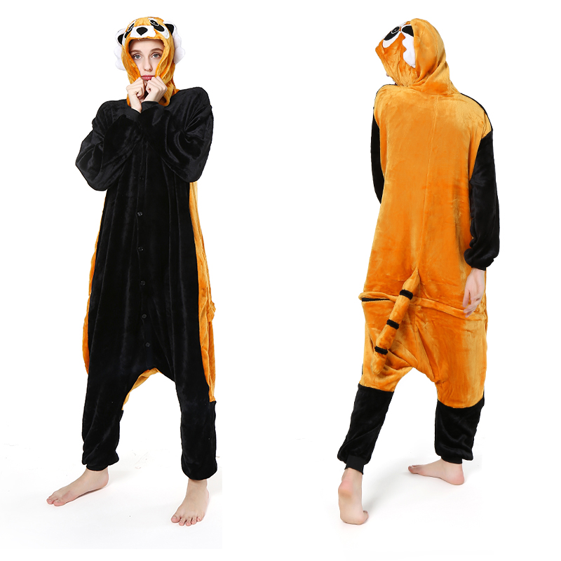 Women   Pajamas     Sets   Animal Kigurumi Pijama Cartoon Pig Panda Pyjamas Women Winter Sleepwear Warm Flannel Hooded Onesie   Pajamas