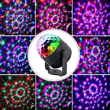 15 Di Colore Piccola Sfera Magica Ha Condotto La Luce Della Fase Della Discoteca Di Cristallo Della Discoteca Sfera Magica Di Luci Colorate Di Luce Laser 2019 Partito Prestazioni
