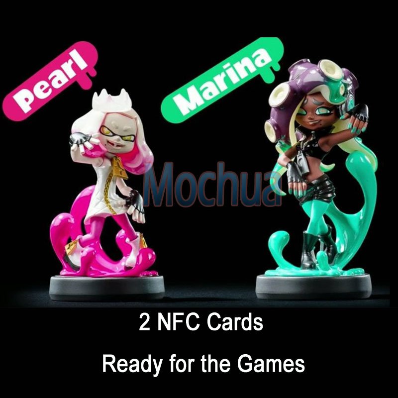 Splatoon Pearl Marina NFC Card NTAG215 Work For Switch 11 pieces splatoon 2 full set nfc card neon purple inkling squid boy and girl sisters callie and marie for switch ns