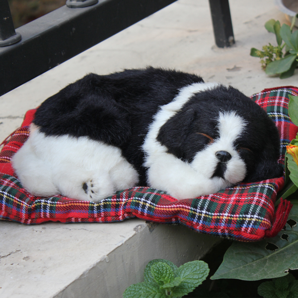 china factory fake fur toy sleeping dog that looks real in stuffed plush animals from toys. Black Bedroom Furniture Sets. Home Design Ideas