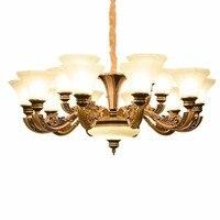 Древних гостиная люстра красоты цинковый сплав спальня исследование лампы вилла атмосфера бытовой комбинированный светильник посылка