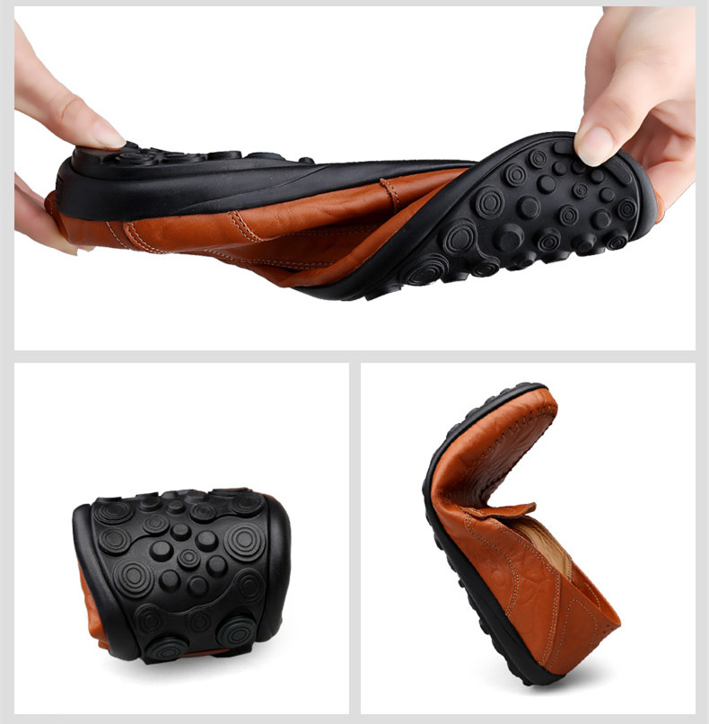 HTB1Ki9UUpzqK1RjSZFoq6zfcXXaw Genuine Leather Men Casual Shoes Luxury Brand Mens Loafers Moccasins Breathable Slip on Black Driving Shoes Plus Size 37-47