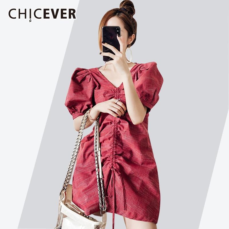 Hot Sale Chicever Summer Plaid Two Piece Set Women Suit Sexy