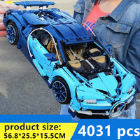 Safe shipping Bugatti Chiron Racing Car Sets Compatible with LegoINGLYS Technic Model Building Blocks Brick Toys For Children