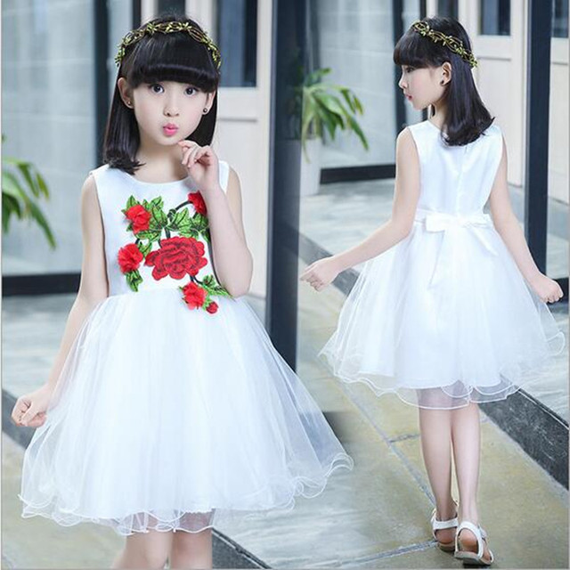 7d1be614b0d Gulugulumi 2017 Flower Girl Beautiful Dress Girls Party Fashion Cute  Perform Wedding Dress Kid School Sleeveless. 35 Unbelievably ...