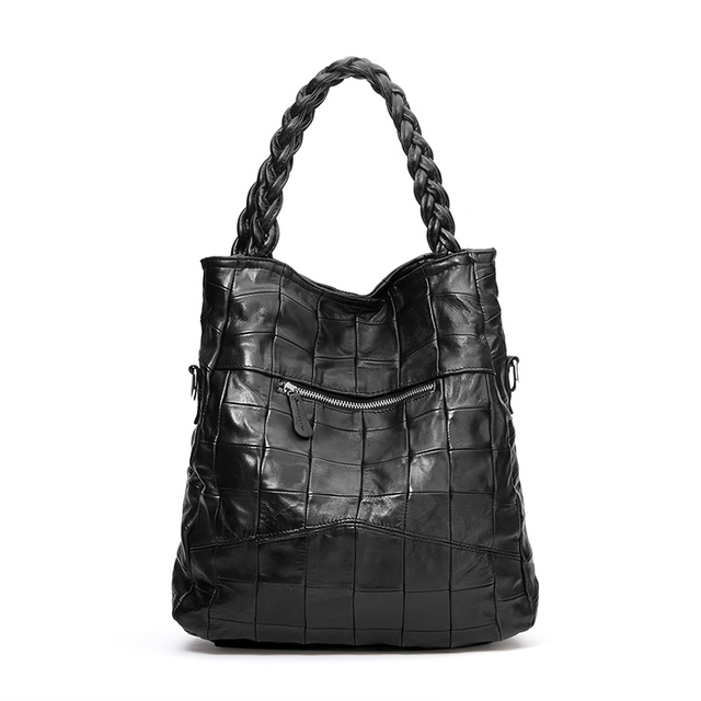 2017 new women bag Black Handbag Sheepskin Genuine Leather messenger bag female fashion bags elegant luxury women shoulder bags