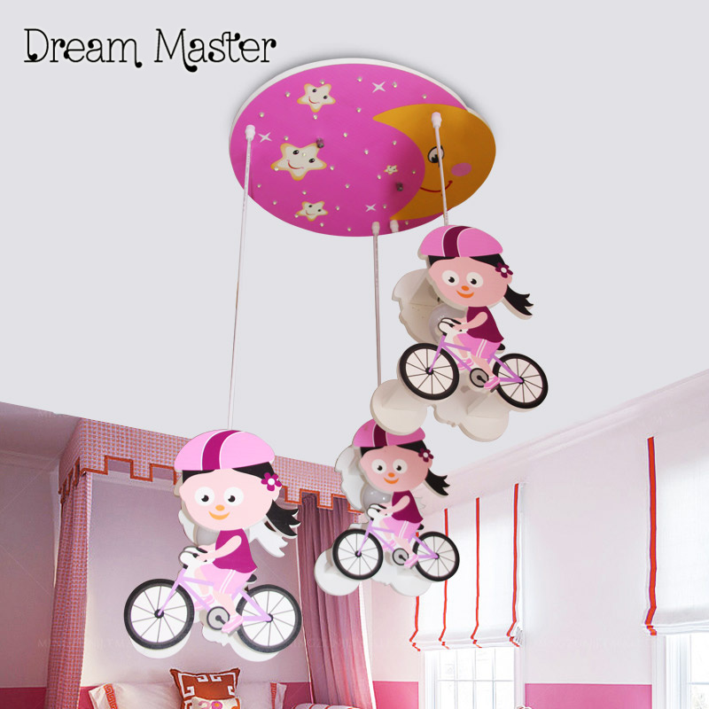Personalized creative cartoon children's lamp led eye care girl baby bicycle children's room lamp free shipping m sparkling td303 creative cartoon 3d led lamp
