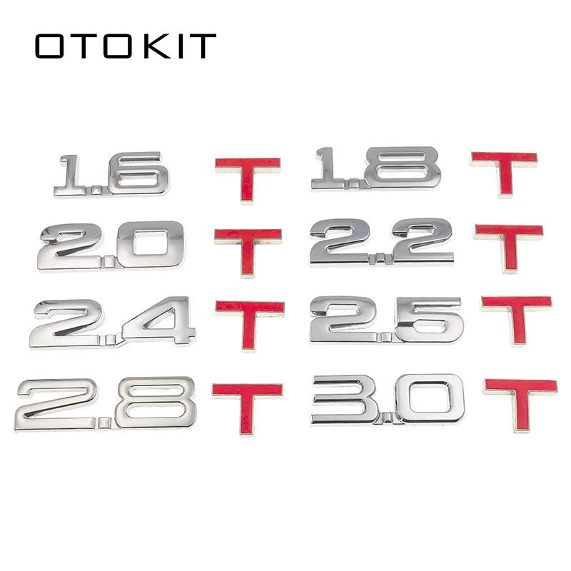 Новый автомобильный 3D металлический 1,6 T 1,8 T 2,0 T 2,8 T логотип наклейка эмблема значок наклейки для Mazda Киа Renault TOYOTA BMW Ford Focus Стайлинг автомобиля