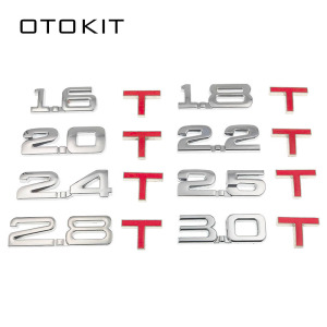 New Car 3D Metal 1.6T 1.8T 2.0T 2.8T Logo Sticker Emblem Badge Decals for Mazda KIA Renault TOYOTA BMW Ford Focus Car Styling(China)