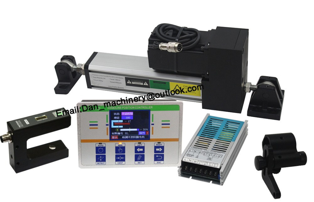 Edge position control web guide system with Photoelectric Sensor for Textile