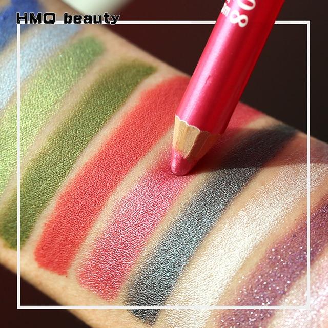 12 Colors Highlighter Glitter Eyeshadow Eyeliner Pen makeup durable Waterproof  sweatproof Double-Ended Eyes Pencil Makeup 1