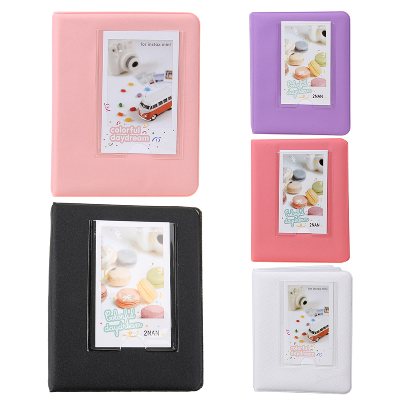 64 Pockets Mini Instant Photo Autograph Picture Case Photo Album for Fujifilm for Instax Mini 7s 8 <font><b>25</b></font> 50s <font><b>90</b></font> Name Credit Card image