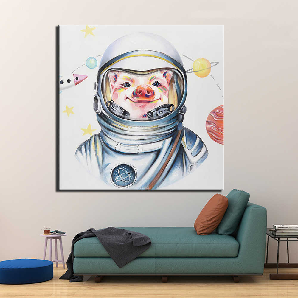 Canvas Painting Wall Art Poster Home Decoration Posters And Prints Abstract pig Pictures for Living Room