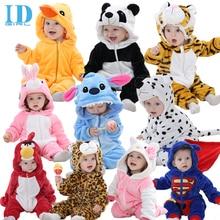 Idgirl otoño primavera ropa para bebés de franela bebé ropa de la historieta Animal mono del bebé de los mamelucos ropa de bebé XYZ15088
