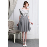 Europe And America Fashion Gothic Spring And Autumn Sexy Slit Neckline Elegant Strapless Pleated Slim T