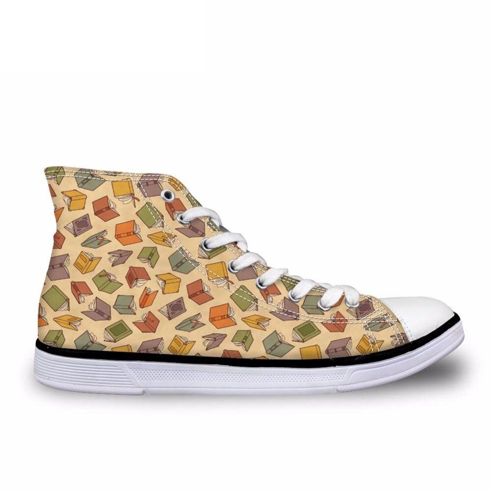Mode à la mode livre amant vulcaniser chaussures respirant haut haut toile chaussures pour hommes personnalisé homme baskets Zapatos