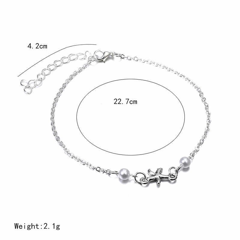 بوهيميا نمط اللؤلؤ الكاحل الشظية اللون الصيف الشاطئ المجوهرات خمر القدم سلسلة للنساء فتاة مجوهرات اكسسوارات ns70