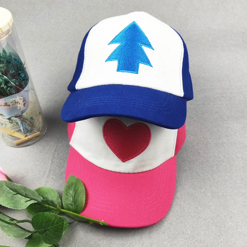 Kids New Cotton Tree Embroidery Gravity Cartoon Mabel Dipper Pines Cosplay Cool Baseball Caps Adjustable Gravity