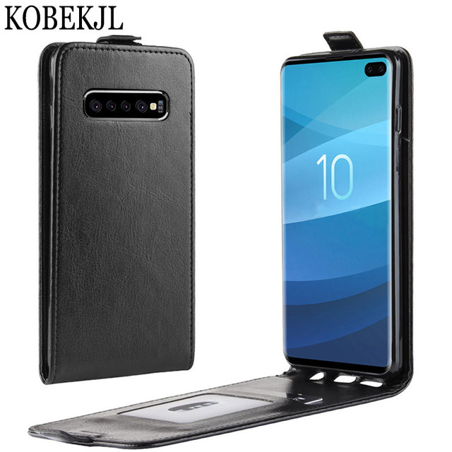 5e882e8b14 For Samsung Galaxy S10 Plus Case Samsung Galaxy S10 Case Flip PU Leather  Back Cover Phone