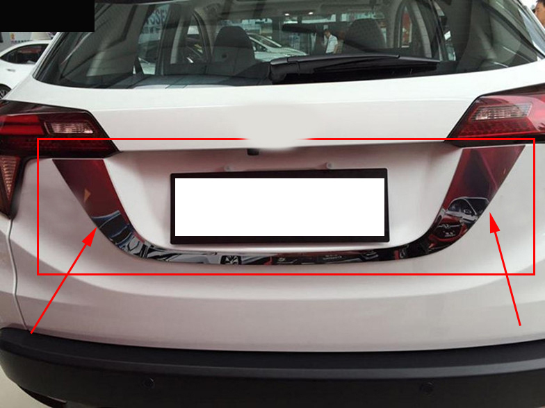 For hrv 2017 car accessories ABS chrome license frame for HRV / VEZEL 2014 2015 2016 chrome molding accessorries frames chrome accessories for car chrome accessories for cars - title=