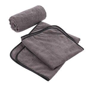 Image 2 - Toalha de secagem super absorvente do tamanho 92*56 cm do pano de secagem da limpeza do carro da toalha de microfibra da lavagem de carro