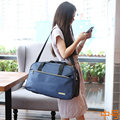 Casual Simple Lady Style Fashion New Women Travel Bags oxford Zipper Bags Weekend Portable Design Bag High Capacity Men Bag