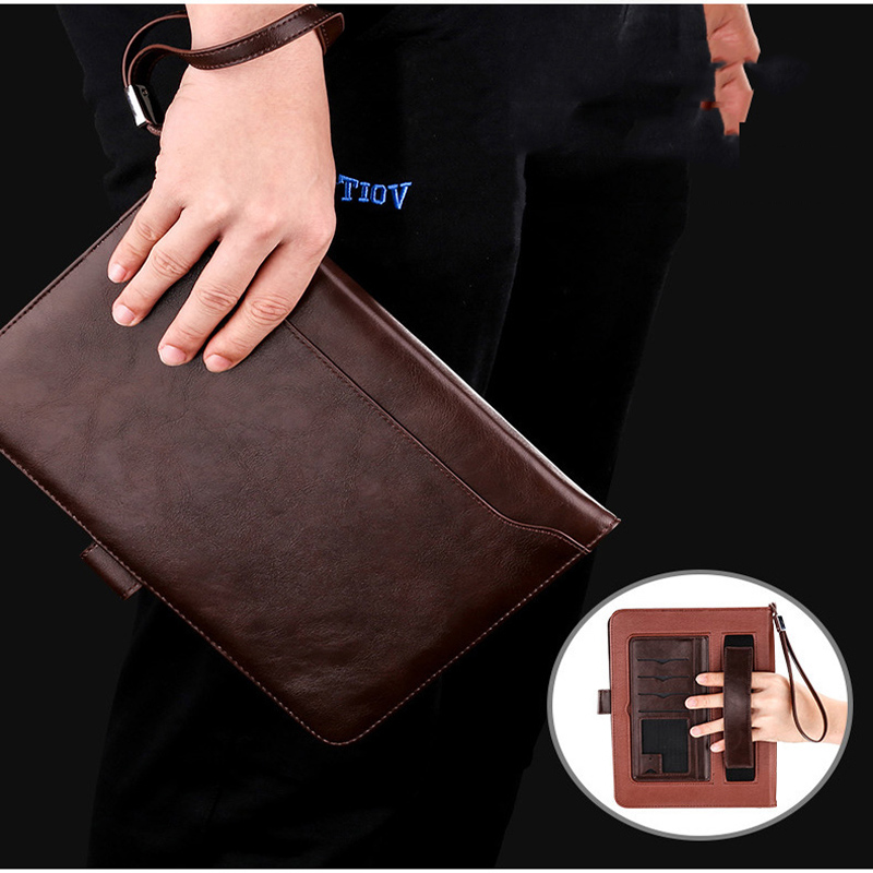 Case For iPad Air 1 Air 2 Luxury Leather Business Folio Stand Pocket Auto Wake Smart Cover For Apple iPad 2017 2018 Case bag